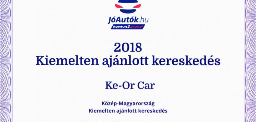 Kiemelten ajánlott autókereskedés 2018-ban